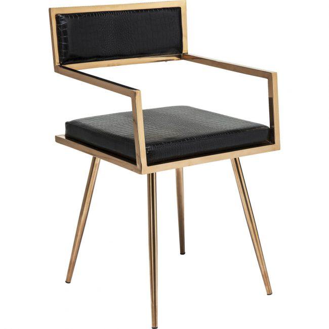 Kare Design Jazz Rosegold spisebordsstol – den gyldne