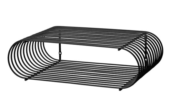 AYTM Curva væghylde metal minimalistisk og rå