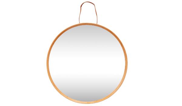 Hübsch spejl smukt bambus træ og fint ophæng