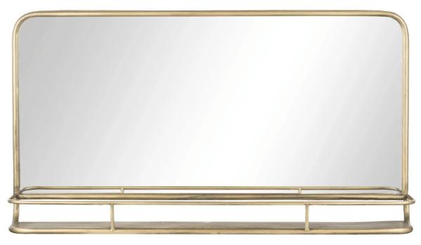 Hildia spejl med guld praktisk æstetik når det er bedst