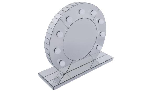 KARE DESIGN Bordspejl Bedste runde bordspejl m. lys