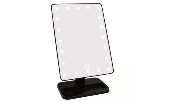 Uniq Hollywood Spejl på fod trifold og lækkert LED lys