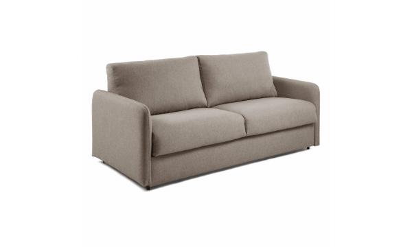 LAFORMA Komoon sovesofa – brunt stof – til dig, der sætter pris på holdbarhed og et tidløst design