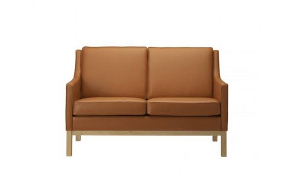 FDB Møbler – L601-2-pers. Sofa – Cognac – til den klassiske boligindretning