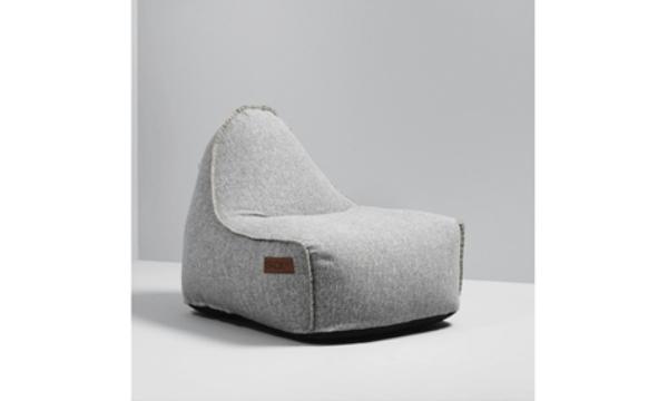 SACKit RETROit Cobana light grey sækkestol - til dig, der vil sidde godt på en stilfuld måde