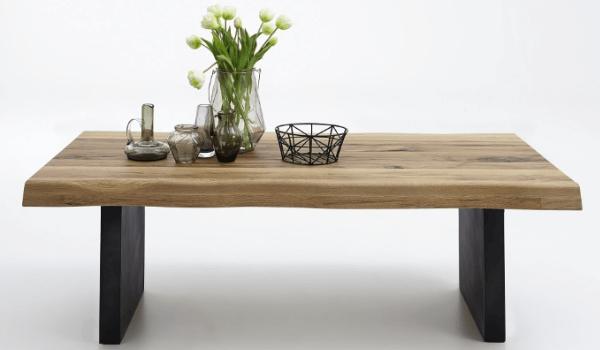 BODAHL Nature sofabord i eg Rustikt plankebord med T-ben