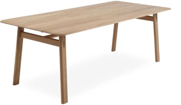 CRAFTY Spisebord Rustik plankebord i natur