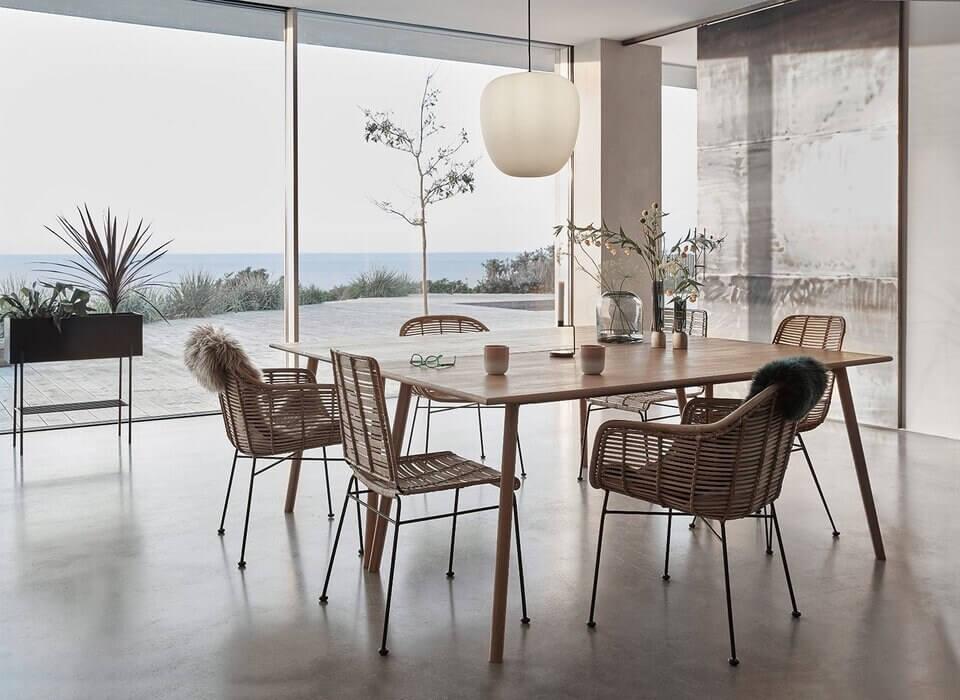 Hübsch Studio spisebordsstol i flet Bedst og billigst