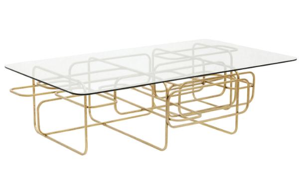 Kare Design Meander Gold sofabord
