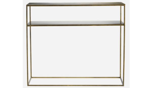 Metal konsolbord med hylde Moderne og minimalistisk