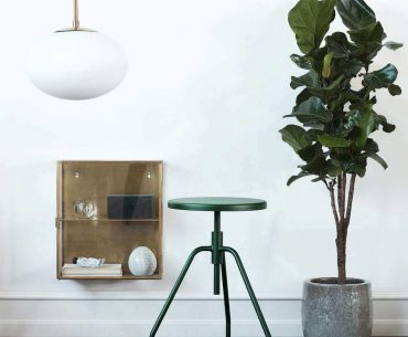 Scarpa grøn taburet i stål moderne og minimalistisk