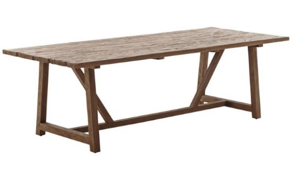 Sika Design Lucas Spisebord Rustik plankebord i teaktræ