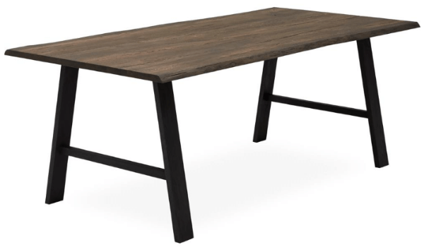 TIMBER spisebord Rustik plankebord i mørkt look