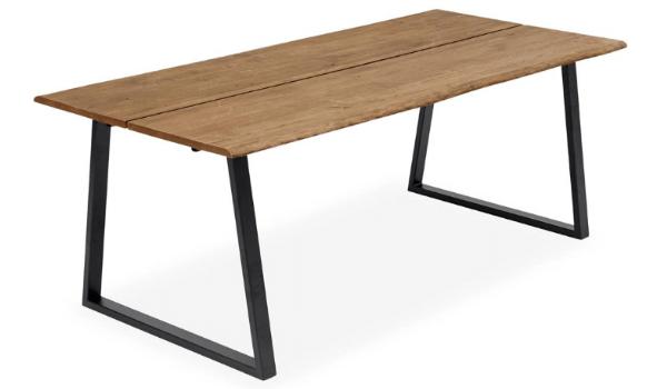 True spisebord træ rustikt plankebord