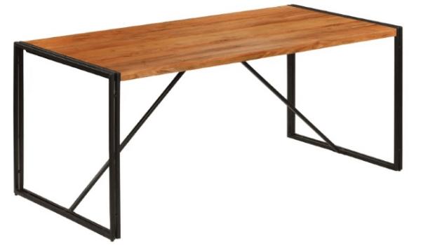 VidaXL spisebord massivt træ genbrugsklassikeren