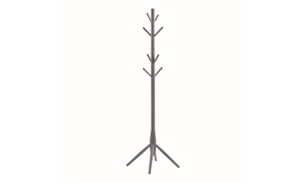 ROWICO Pelle stumtjener m. 8 knager – grafitgrå gummitræ – til dig, der holder af det klassiske og moderne