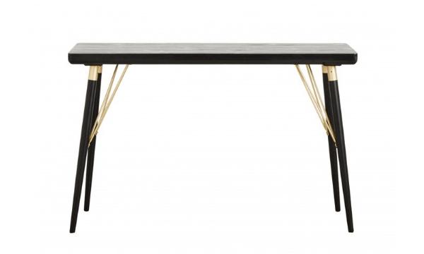 Nordal konsolbord i sort træ – til dig, der går op i bæredygtighed og design