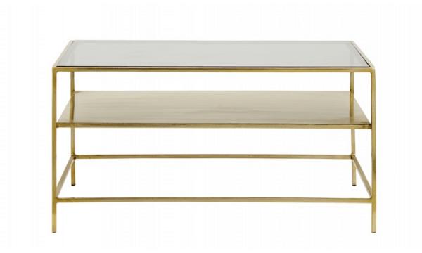 DECADENT sofabord – 90x60 cm – gyldent/sort glas – til dig, der sætter pris på hyggelig stemning i hjemmet