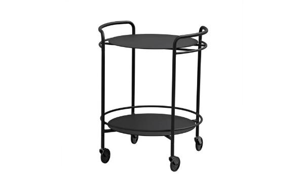 SACKit SERVEit Black serveringsbord på hjul - lille bord med mange funktioner
