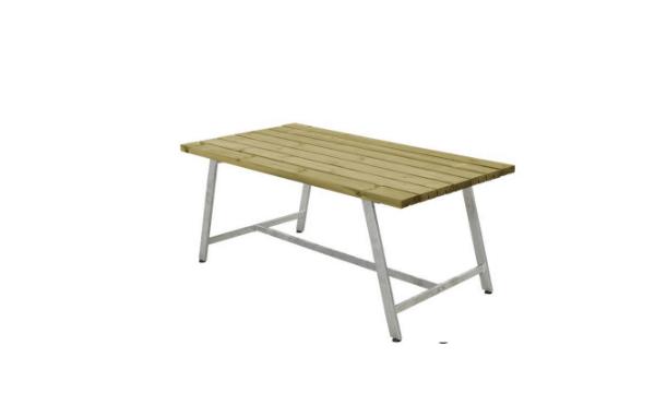 Plus Royal bord i grundmalet gråbrun længde 177 cm – til dig, der leder efter det perfekte bord til udendørs brug