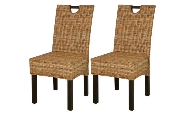 vidaXL 2 stk. spisebordsstole
