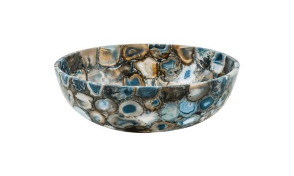 GemLook GL274 håndlavet håndvask i blå semiprecious stone