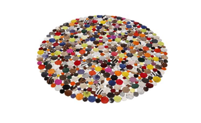 Kare Design Circle Multi tæppe Ø150 cm – Farvepalette
