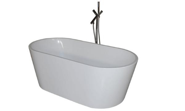 Oval Ultraslim 120 – fritstående lille badekar