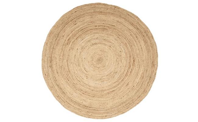 Tonya natur tæpper Ø200 cm – naturlig skønhed