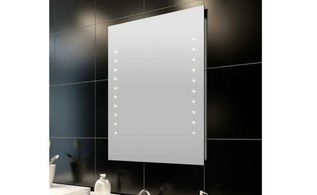 VidaXL spejl med LED lys 50x60cm