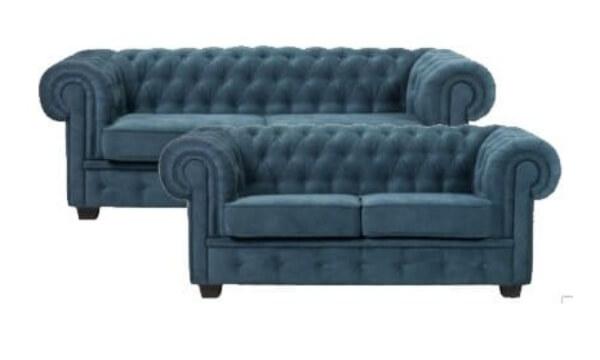 Chesterfield Manchester 2 + 3 pers sofasæt turkis - utrolig komfortabel og kan skræddersyes til din indretning