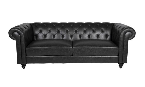 Charlietown 3 pers. Chesterfield sofa – sort læder PU er noget nær perfekt til alle typer hjem