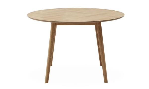 Richmond spisebord 120 x 75 cm er et lille, simpelt, smukt og rundt sildebensbord