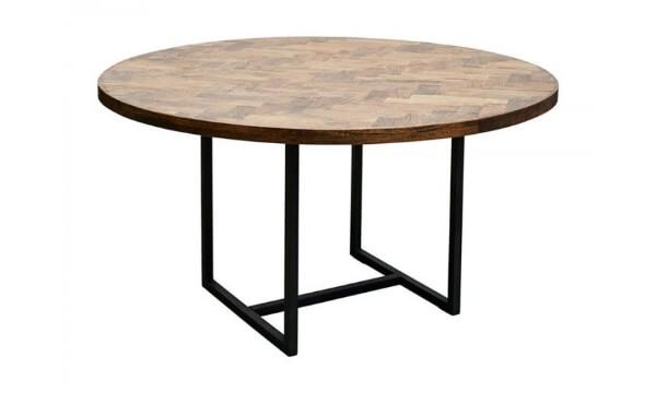 House Doctor spisebord kant 74 x 140 cm er et smukt, mørkt og meget unikt rundt sildebensbord