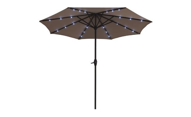 Alu Parasol – Med lys og solar