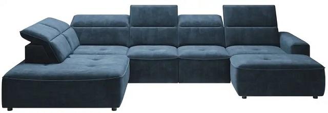 COLOMBO U sofa blå