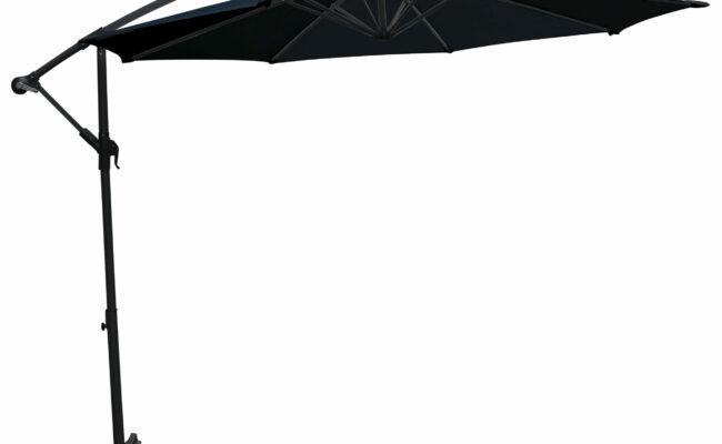 Hængeparasol sort 3m