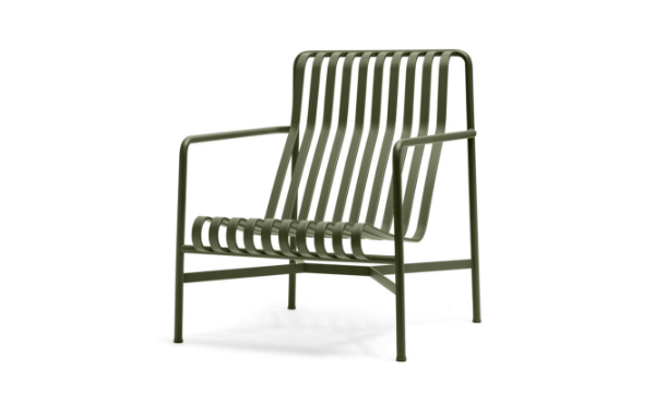 HAY Palissade Lounge Chair High Olive