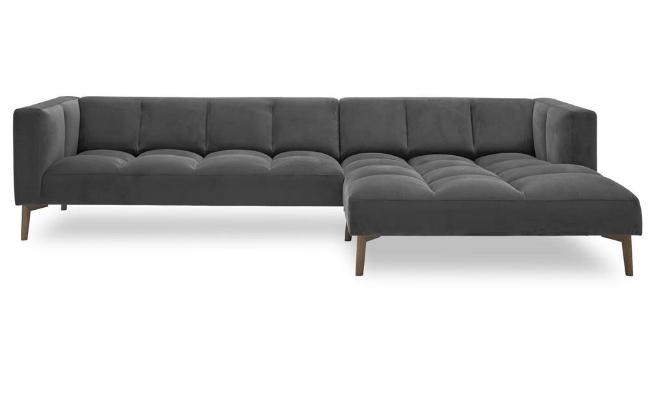Ilva Orto – mørkegrå velour sofa