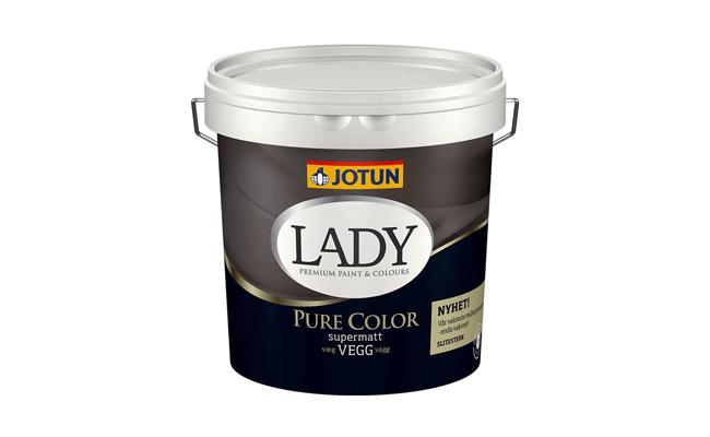 farvet væg