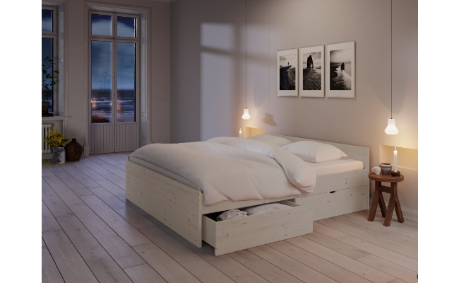 Nordic Dream Sengeramme hvid fyr 160x200