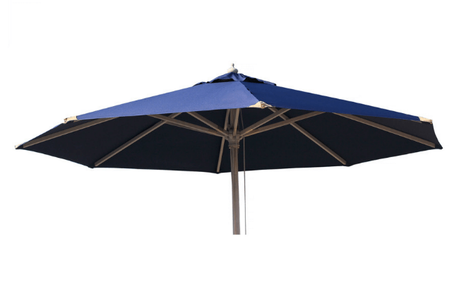 Signe Parasol – Med todelt stok og blå dug