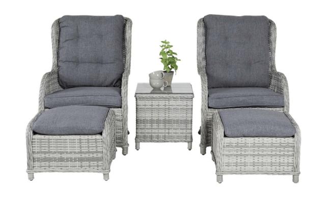 VENTURE DESIGN Vikelund loungesæt, grå
