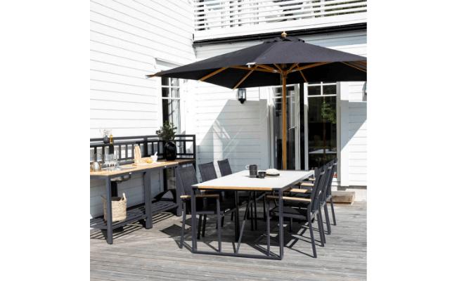 Venture Design – Naxos Parasol med sort dug
