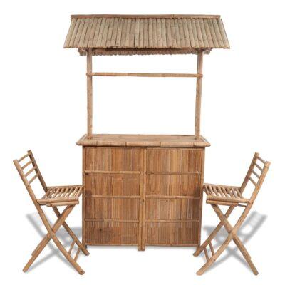 VidaXL bistrosæt – Tropisk design i bambus
