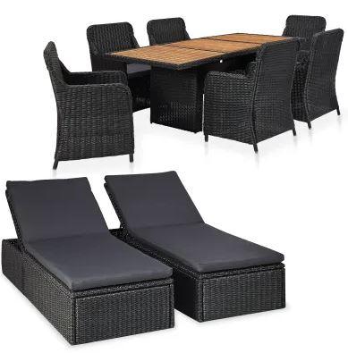 VidaXL udendørs loungesæt