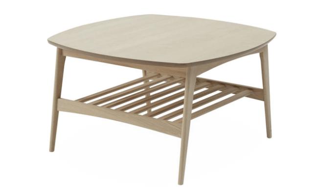 Woodstock L80xH45 egetræsbord med tremmehylde
