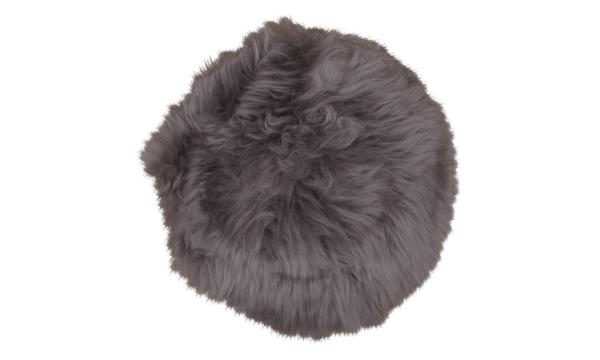 Møbelkompagniet lammeskindshynde – ægte lammeskind i naturlig brun med grå nuancer