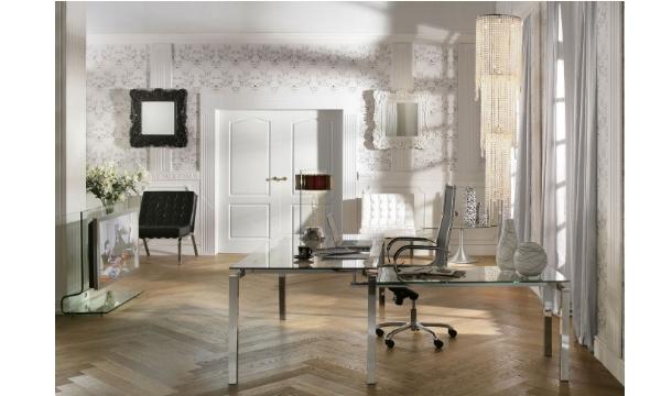 KARE DESIGN Lorenco Corner Chrome skrivebord – klar glas/sølv stål er til dig, der vil have et stilrent og elegant bord til hjemmekontoret