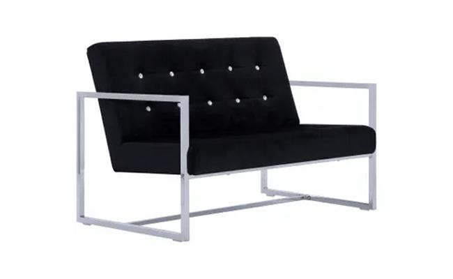 fløjl sofa